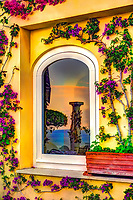 """Sunrise reflection of the blue sea in Positano""…<br />