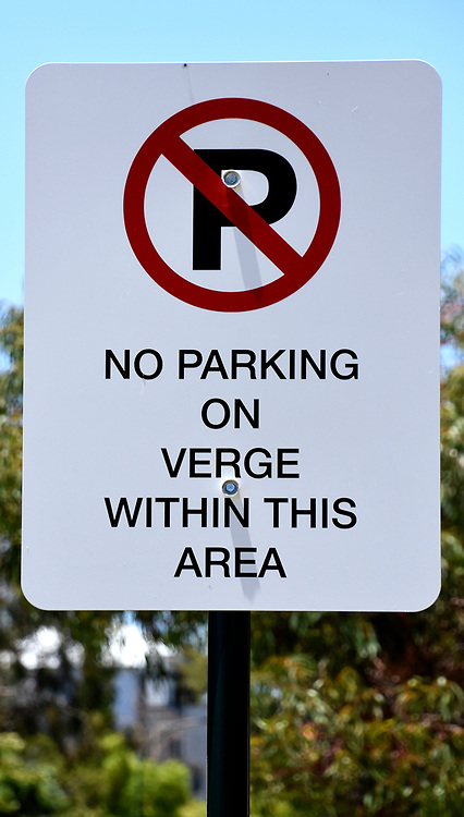 No Parking on the Verge Sign