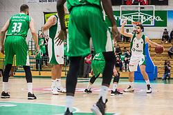 Paolo Marinelli of KK Krka during basketball match between KK Union Olimpija and KK Krka Novo Mesto in 1st Round of Nova KBM league, on October 11, 2018, in SD Leona Stuklja, Novo Mesto, Slovenia. Photo by Grega Valancic / Sportida