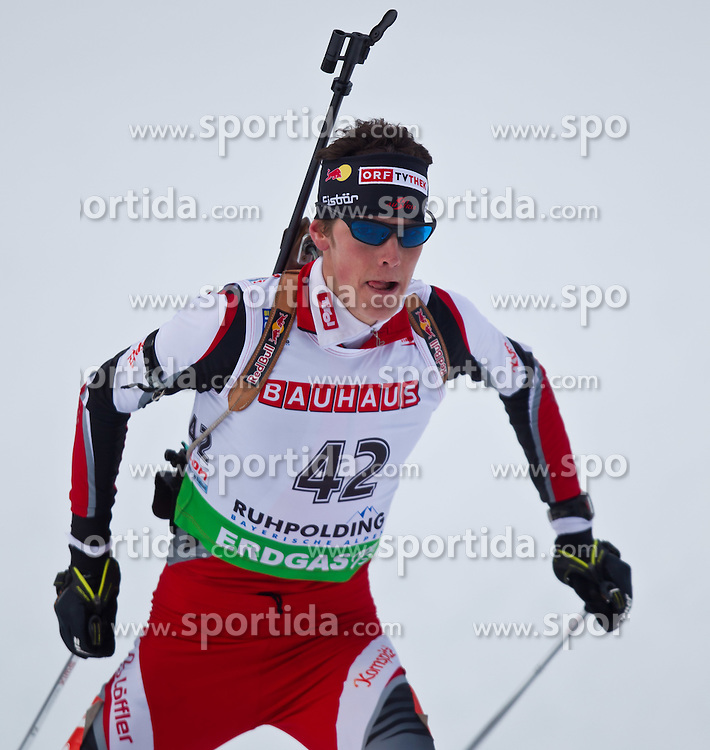 12.01.2011, Chiemgau Arena, GER, IBU Biathlon Worldcup, Ruhpolding, Individual Men, im Bild Tobias Eberhard (AUT) // Tobias Eberhard (AUT) during IBU Biathlon World Cup in Ruhpolding, Germany, EXPA Pictures © 2011, PhotoCredit: EXPA/ J. Feichter