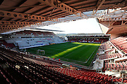 Ashton Gate before the Sky Bet Championship match between Bristol City and Derby County at Ashton Gate, Bristol, England on 19 April 2016. Photo by Graham Hunt.