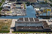 Nederland, Amsterdam, Amsterdam-Oost, 25-05-2010. Amstel Business park met Drukkerij PCM (Duivendrechtse Vaart, Johan Muyskensweg, Van der Madeweg).luchtfoto (toeslag), aerial photo (additional fee required).foto/photo Siebe Swart
