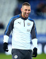 Islam Slimani of Leicester City - Mandatory by-line: Robbie Stephenson/JMP - 28/11/2017 - FOOTBALL - King Power Stadium - Leicester, England - Leicester City v Tottenham Hotspur - Premier League