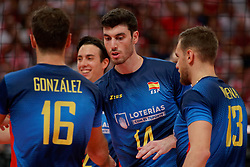 21-09-2019 NED: EC Volleyball 2019 Poland - Spain, Apeldoorn<br /> 1/8 final EC Volleyball / Miguel Angel Fornes #14 of Spain