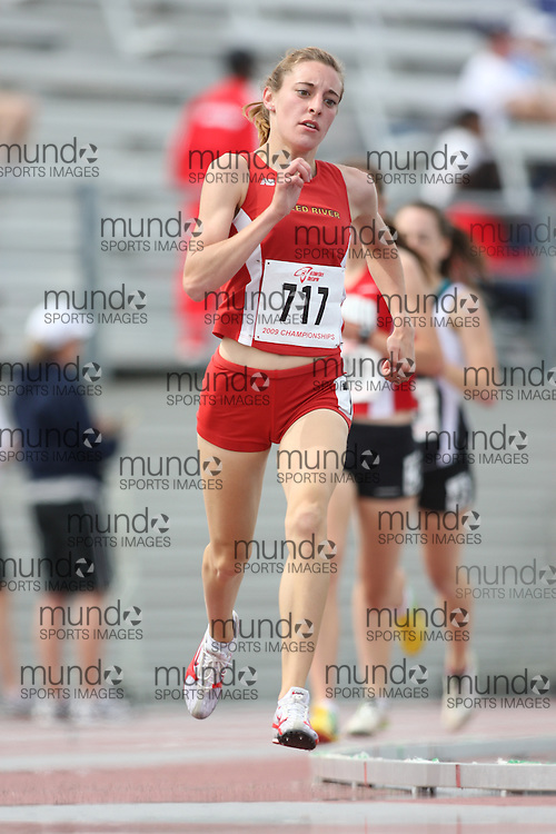 (London, Ontario---13/06/09)   Shantelle Novak of SK Prairie Pacers T.C. competes in the  1500m at the 2009 Athletics Ontario Junior Track and Field Championships. The meet was held in London, Ontario from June 13-14, 2009. Copyright photograph Sean Burges / Mundo Sport Images, 2009. www.mundosportimages.com / www.msievents.