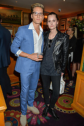 OLLIE PROUDLOCK and CHARLOTTE DE CARLE at a party for the UK launch of Mr Boho held at Annabel's, 44 Berkeley Square, London on 19th May 2016.