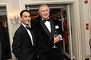 FRANCOIS LE TROQUER; ARNAUD BAMBERGER, The Cartier Racing Awards. The Ballroom, Dorchester hotel. Park Lane. London. 15 November 2011. <br /> <br />  , -DO NOT ARCHIVE-© Copyright Photograph by Dafydd Jones. 248 Clapham Rd. London SW9 0PZ. Tel 0207 820 0771. www.dafjones.com.