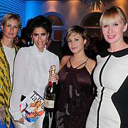 NLD/Amsterdam/20120202 - Lancering vernieuwde Talkies, Anouk Smulders - Voorveld,  Kristina Bozilovic, Victoria Koblenko en Monique des Bouvrie