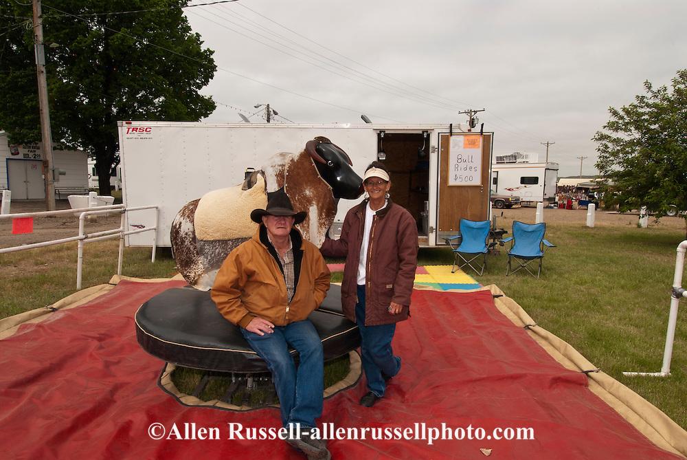 Mechanical Bucking Bull, Miles City Bucking Horse Sale, Montana