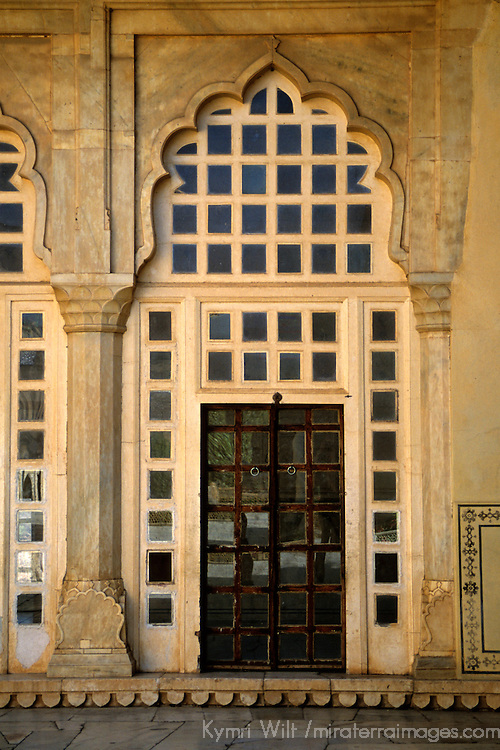 Asia, India, Amer. Door at Amber Palace.