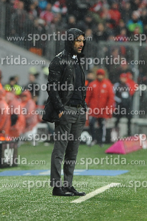 31.01.2016, Allianz Arena, Muenchen, GER, 1. FBL, FC Bayern Muenchen vs TSG 1899 Hoffenheim, 19. Runde, im Bild Trainer Pep Guardiola (FC Bayern Muenchen) // during the German Bundesliga 19th round match between FC Bayern Munich and TSG 1899 Hoffenheim at the Allianz Arena in Muenchen, Germany on 2016/01/31. EXPA Pictures &copy; 2016, PhotoCredit: EXPA/ Eibner-Pressefoto/ Stuetzle<br /> <br /> *****ATTENTION - OUT of GER*****