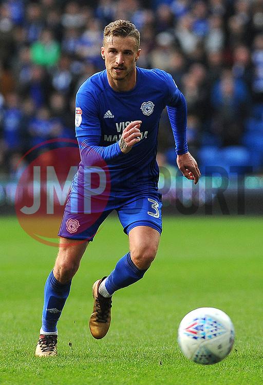 Joe Bennett of Cardiff City in action- Mandatory by-line: Nizaam Jones/JMP - 10/03/2018 -  FOOTBALL -  Cardiff City Stadium- Cardiff, Wales -  Cardiff City v Birmingham City - Sky Bet Championship