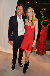 MR CHARLIE & LADY JUBIE WIGAN at a party at Herve Leger, Lowndes Street, London on 12th November 2014 to view the latest collection.