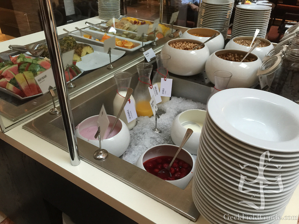 The variety of fruits, milk and juices at Scandic Victoria also was excellent. It was very common there to find lactose-free milk on breakfast buffets at the hotels where I stayed.