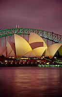 Sydney Opera House and the Harbor Bridge, Sydney, New South Wales, Australia