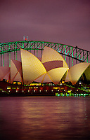 Sydney Opera House and the Harbor Bridge, Sydney, New South Wales, Australia