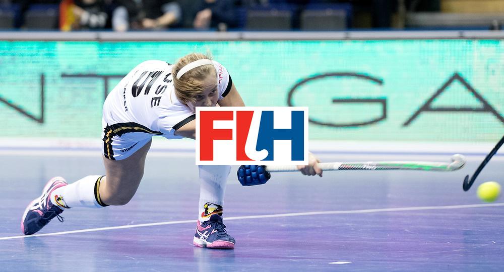 BERLIN - Indoor Hockey World Cup<br /> Women: Germany - Russia<br /> foto: HUSE Viktoria.<br /> WORLDSPORTPICS COPYRIGHT FRANK UIJLENBROEK