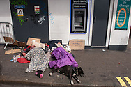 London, 06/08/2017: homeless sleeping rough in front of  Eurochange.<br /> &copy; Andrea Sabbadini