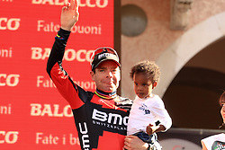 Cadel Evens seems content with his 3th place in the Giro