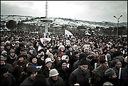 "Thousands of opposition protesters have gathered in Tbilisi, Georgia on 06 January, 2008, alleging vote-rigging. Opposition leader Levan Gachechiladze - the most prominent of the five other presidential candidates told the crowd in Tbilisi: ""We face terror and will defend our vote by legal means."" Early results suggest President Mikhail Saakashvili won, but it is unclear if he did well enough to avoid a run-off. But opposition leader Levan Gachechiladze said the exit polls had been ""falsified"". They suggested President Saakashvili won more than 53% of the vote and Mr Gachechiladze 28%."