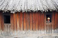 Madagascar. village Zafimaniry de Sakaivu. // Madagascar. Sakaivu is a Zafimaniry village.
