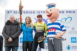 Kevin Colleoni of Conti Alberto Team at Trophy ceremony during the cycling race 6. VN Slovenske Istre / 6th Slovenian Istra Grand Prix, on February 24, 2019 in Izola/ Isola, Slovenia. Photo by Vid Ponikvar / Sportida