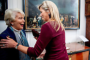 Koningin Máxima is donderdag 31 oktober in Museum Van Loon in Amsterdam aanwezig bij de lancering va