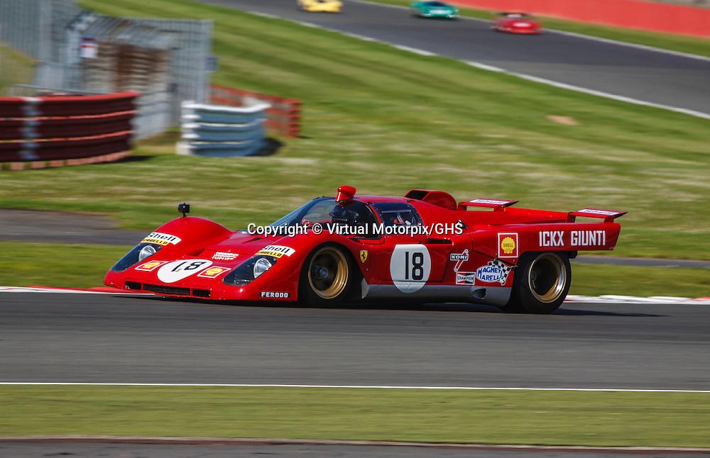 #18 Ferrari 512 M, chassis no. 1038 (1970), Silverstone Classic 22 July 2012