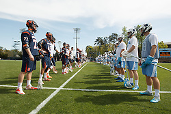 CHAPEL HILL, NC - APRIL 11: North Carolina Tar Heels during a game against the Syracuse Orange on April 11, 2015 at Fetzer Field in Chapel Hill, North Carolina. North Carolina won 17-15. (Photo by Peyton Williams/US Lacrosse/Getty Images)