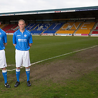 Dave Mackay and Steven Anderson, St Johnstone FC, pictured at McDiarmid Park...20.04.15<br /> <br /> Picture by Graeme Hart.<br /> Copyright Perthshire Picture Agency<br /> Tel: 01738 623350  Mobile: 07990 594431