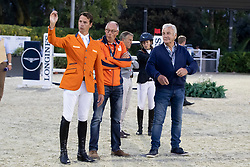 Philippaertsd Nicola, BELVan Asten Leopold, Ehrens Rob, Van Asten ..<br /> Longines FEI Jumping Nations Cup™ Final<br /> Barcelona 20128<br /> © Hippo Foto - Dirk Caremans<br /> 05/10/2018