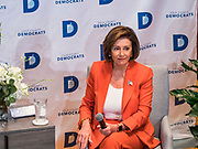 26 OCTOBER 2019 - DES MOINES, IOWA: Congresswoman NANCY PELOSI (D-CA), Speaker of the House of Representatives, speaks to Iowa Democrats at Drake University. Speaker Pelosi talked about her experiences as Speaker of the House after the Democrats took back the House of Representatives in the 2018 midterm elections.        PHOTO BY JACK KURTZ