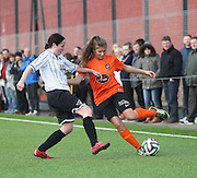 United's Keira Johnstone runs at the Dunfermline defence  - Dundee United Women v Dunfermline Athletic Development - Scottish Womens Football League<br /> <br />  - &copy; David Young - www.davidyoungphoto.co.uk - email: davidyoungphoto@gmail.com