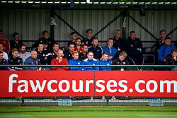 NEWPORT, WALES - Sunday, May 28, 2017: Delegates watch a practical demonstration during day three of the Football Association of Wales' National Coaches Conference 2017 at Dragon Park. (Pic by David Rawcliffe/Propaganda)