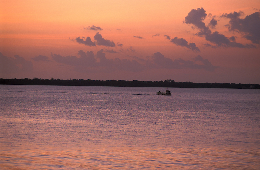 Riverboat on Rio Amazon, Belem, Amazon Delta, Amazonia, Brazil