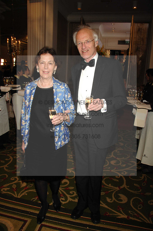 Writer MICHAEL FRAYN and his wife CLAIRE TOMALIN at the Galaxy British Book Awards 2007 - The Nibbies held at the Grosvenor house Hotel, Park Lane, London on 28th March 2007.<br />