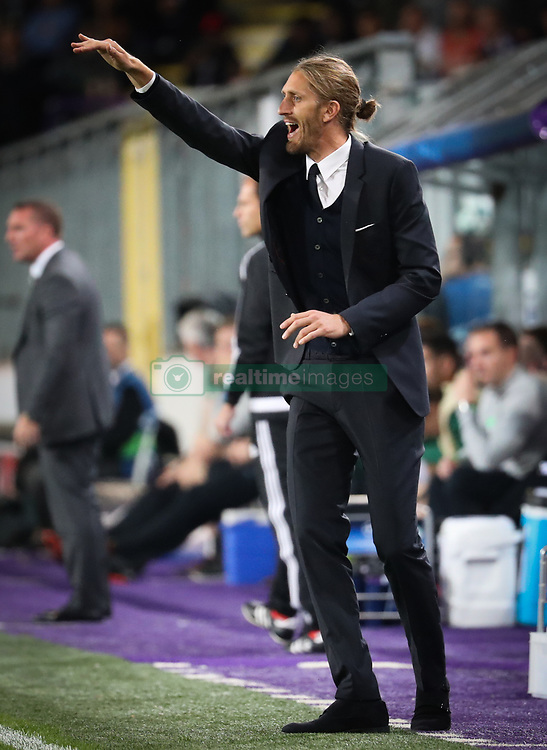 September 27, 2017 - Brussels, BELGIUM - Anderlecht's interim head coach Nicolas Frutos gestures during the second game in the group stage (Group B) of the UEFA Champions League competition between Belgian soccer team RSC Anderlecht and Scottish Celtic FC, Wednesday 27 September 2017 in Brussels. BELGA PHOTO VIRGINIE LEFOUR (Credit Image: © Virginie Lefour/Belga via ZUMA Press)