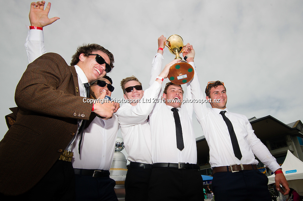 Fans during the New Zealand Cup Meeting at Riccarton Park, Christchurch. 14th November 2015. Copyright Photo: John Davidson / www.photosport.nz