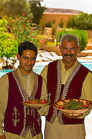 Serving lunch at the Hotel Sangho Privilege, Tataouine, Tunisia