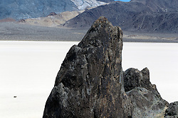 Rock formation in the middle of Racetrack Playa, Death Valley National Park, California, United States of America