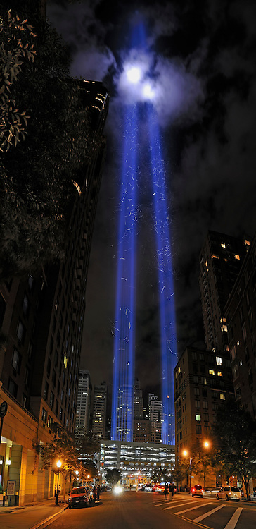 Tribute in Light on Manhattan's street