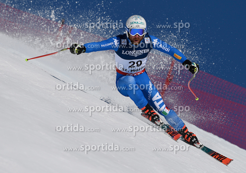 13.02.2017, St. Moritz, SUI, FIS Weltmeisterschaften Ski Alpin, St. Moritz 2017, alpine Kombination, Herren, Abfahrt, im Bild Riccardo Tonetti (ITA) // Riccardo Tonetti of Italy in action during his run of downhill for the men's Alpine combination of the FIS Ski World Championships 2017. St. Moritz, Switzerland on 2017/02/13. EXPA Pictures &copy; 2017, PhotoCredit: EXPA/ Sammy Minkoff<br /> <br /> *****ATTENTION - OUT of GER*****