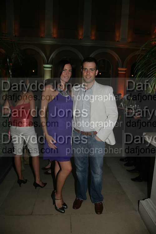 Anahita Resort launch party. Wallace Collection. London. 12 September 2007. ( Photo by Dafydd Jones)  Linzi Stoppard;Will Stoppard -DO NOT ARCHIVE-© Copyright Photograph by Dafydd Jones. 248 Clapham Rd. London SW9 0PZ. Tel 0207 820 0771. www.dafjones.com.