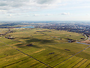 Nederland, Zuid-Holland, Zoetermeer, 20-02-2012; overzicht van de Zoetermeersche Meerpolder, een van de weinige polder is de westelijke Randstad die nog een open landschap heeft..Zoetermeer aan de horizon.Polder near Zoetermeer in the  western Randstad, one of the few still open  landscapes..copyright foto/photo Siebe Swart