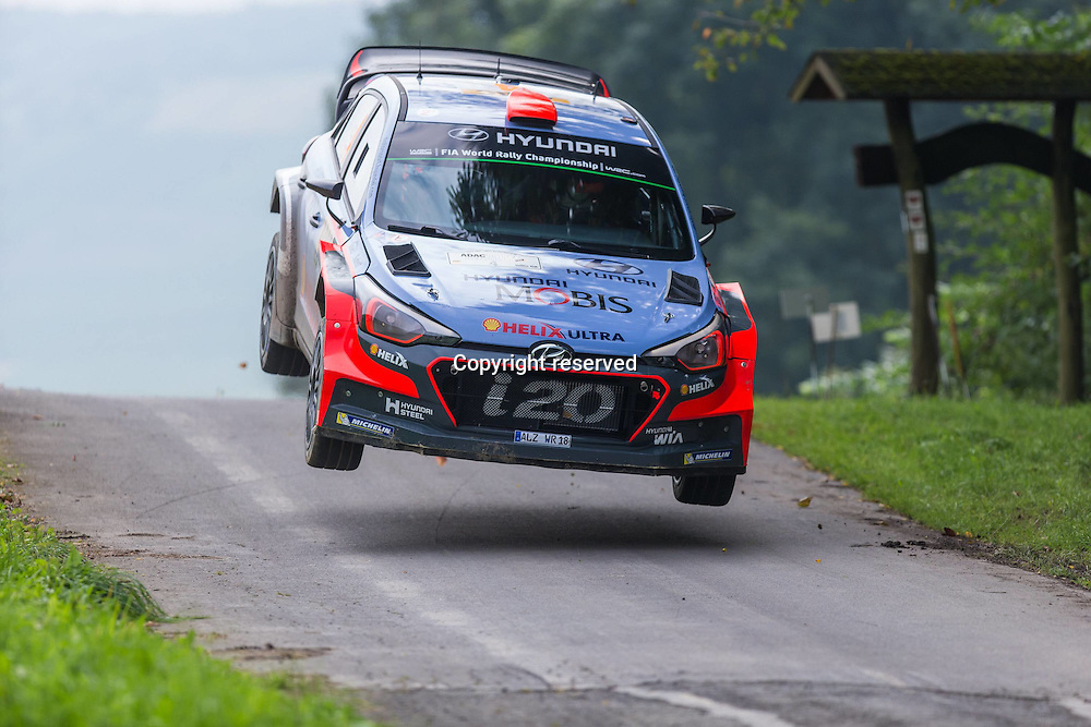 19.08.2016. Mosel, Germany. WRC ADAC rally of Germany, SS3 and SS4.  SORDO Daniel and MARTI Marc (Hyundai Motorsport (GER) / Hyundai i20
