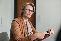 12 APR 2019, BERLIN/GERMANY:<br /> Anja Karliczek, CDU, Bundesministerin fuer Forschung und Bildung, waehrend einem Interview, in ihrem Buero, Bundesministerium fuer Forschung un Bildung<br /> IMAGE: 20190412-01-006<br /> KEYWORDS: Büro