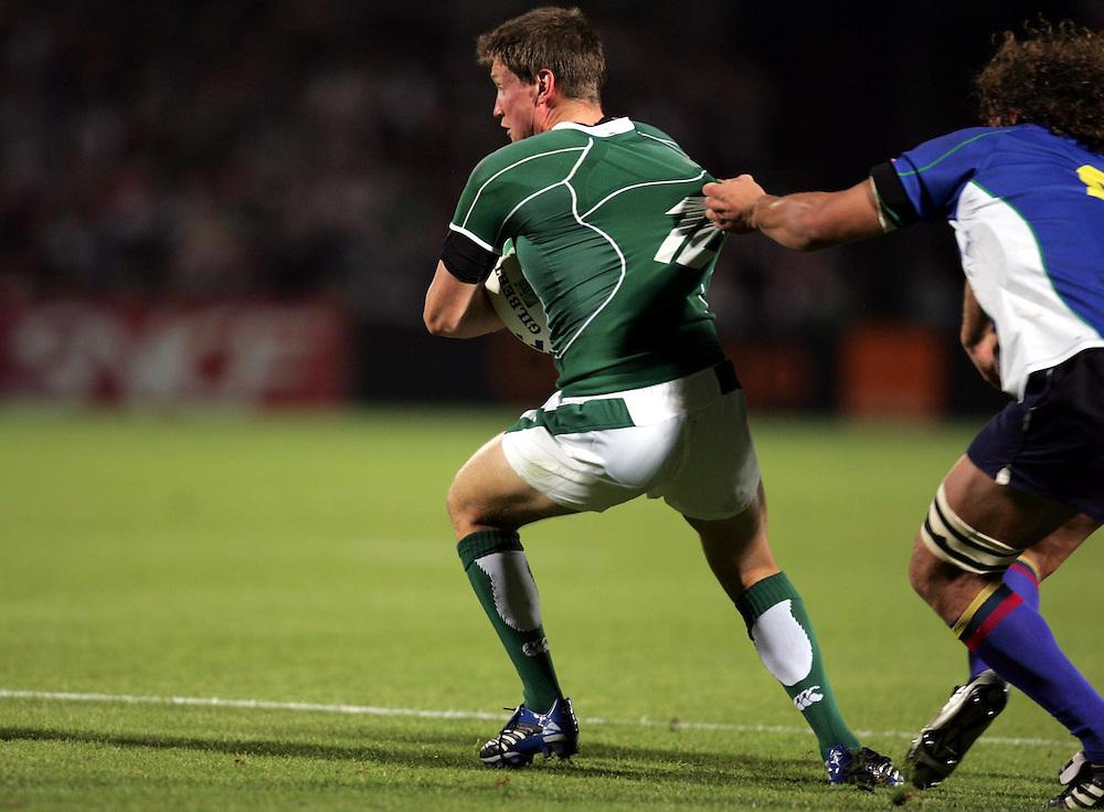 Ronan O'Gara of Ireland. Ireland v Namibia, Bordeaux, 9th September 2007.
