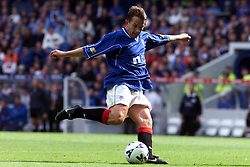 Neil McCann scoring their third goal, during a Rangers v Dunfermline game in August 2000..