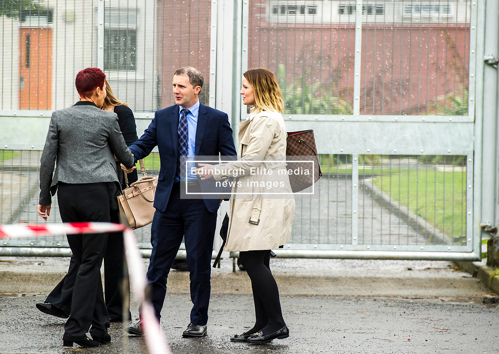 "Pictured: Govenor Carolin Johnstone welcomes the minister to Cornton Vale<br /> Justice Secretary Michael Matheson joined governor Caroline Johnstone to mark the start of demolition of Corton Vale Prison today. Cornton Vale is a women's prison in Stirling, operated by the Scottish Prison Service. Built in 1975, Cornton Vale comprises a total of 217 cells in its 5 houses. Ministers decided to close the prison after former Lord Advocate Elish Angiolini warned it was ""not fit for purpose"".<br />  <br /> Ger Harley 