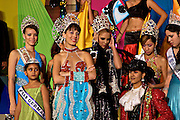 Beauty queens from around Puerto Rico watch the  Carnaval de Ponce February 21, 2009 in Ponce, Puerto Rico.